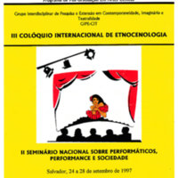 Affiche du 3ème Colloque International d'Ethnoscénologie (1997 ; Bahia)