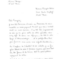 Lettre de Bénédicte Gèrard du 13/04/95